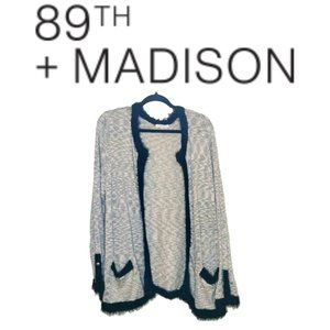 Cardigan Open Front in Plus Size by 89th+Madison
